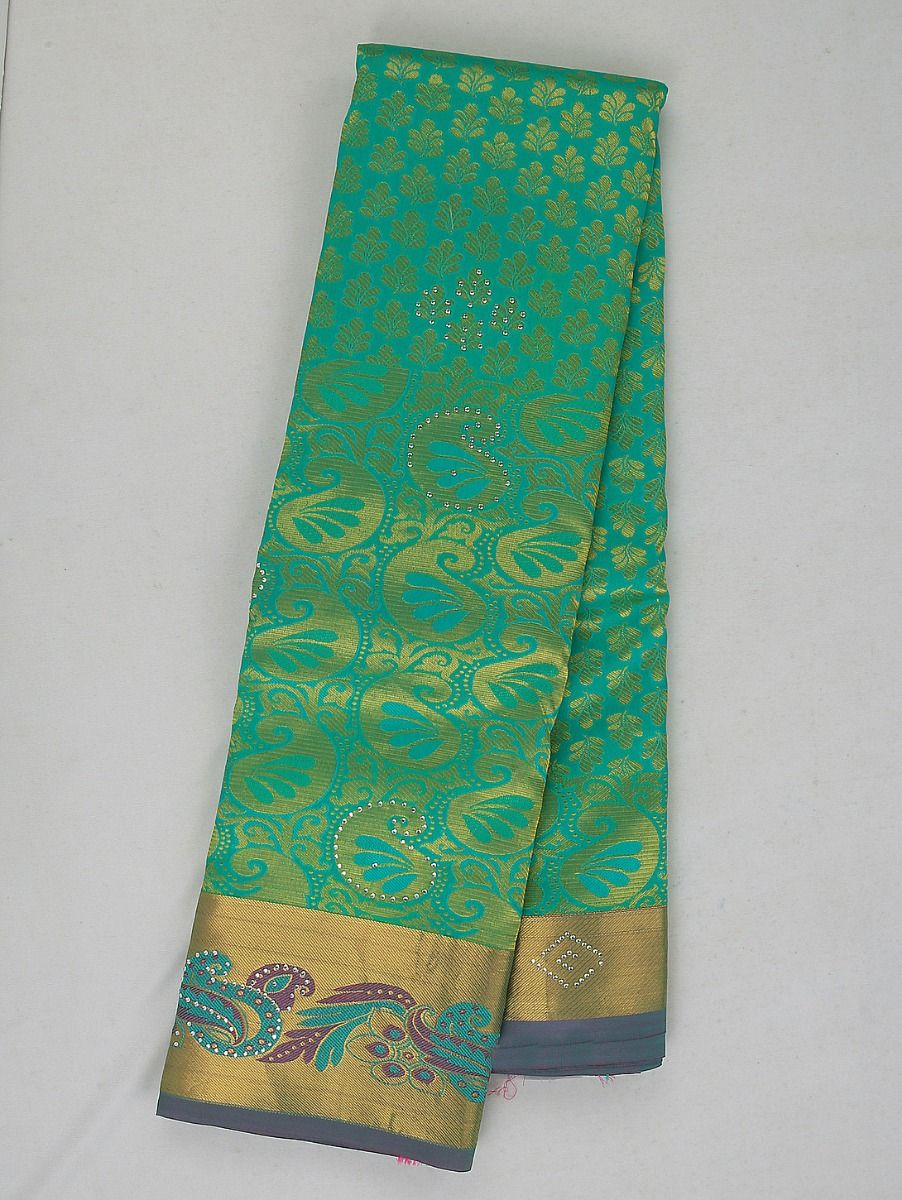 Bairavi Traditional Stone Work Silk Saree
