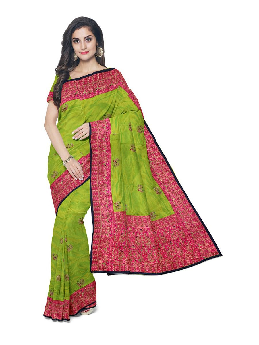 MFB1095580 - Kathana Exclusive Designer Embroidery Raw Silk Saree
