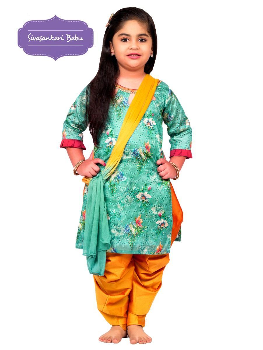Sivasankari Babu Girls Hakoba Design Salwar Kameez - TUPMGB9085893