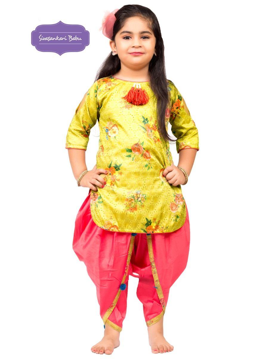 Sivasankari Babu Girls Hakoba Design Salwar Kameez - TUPMGB9085907