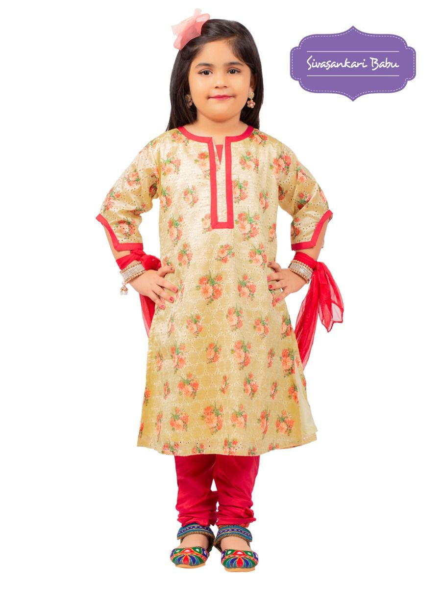 Sivasankari Babu Girls Hakoba Design Salwar Kameez - MGB9085965