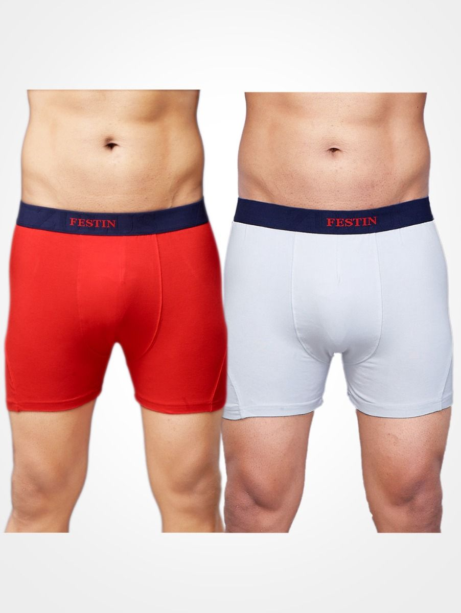 Zulus Festin Men's Cotton Trunks Pack of 2 - RW001