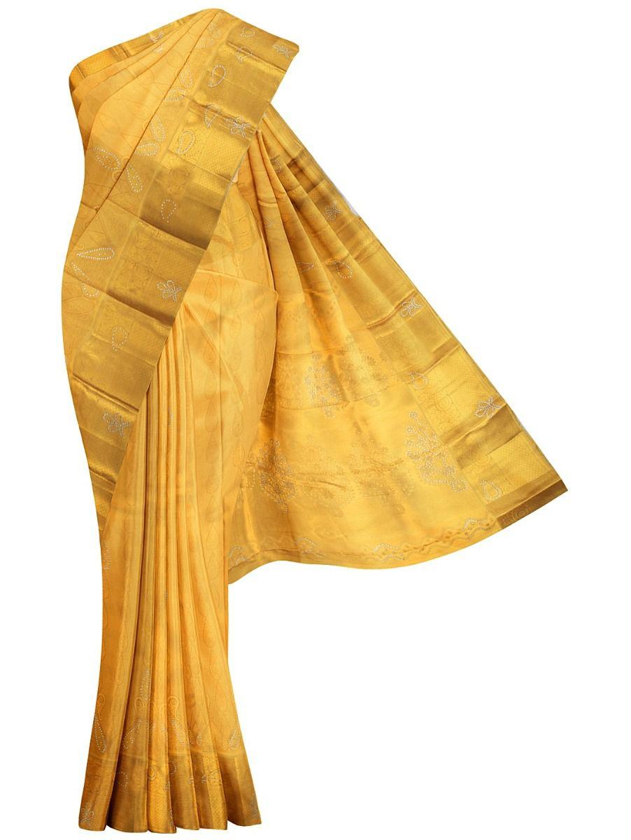 MHC1933618-Vivaha Stone work Wedding Silk Saree