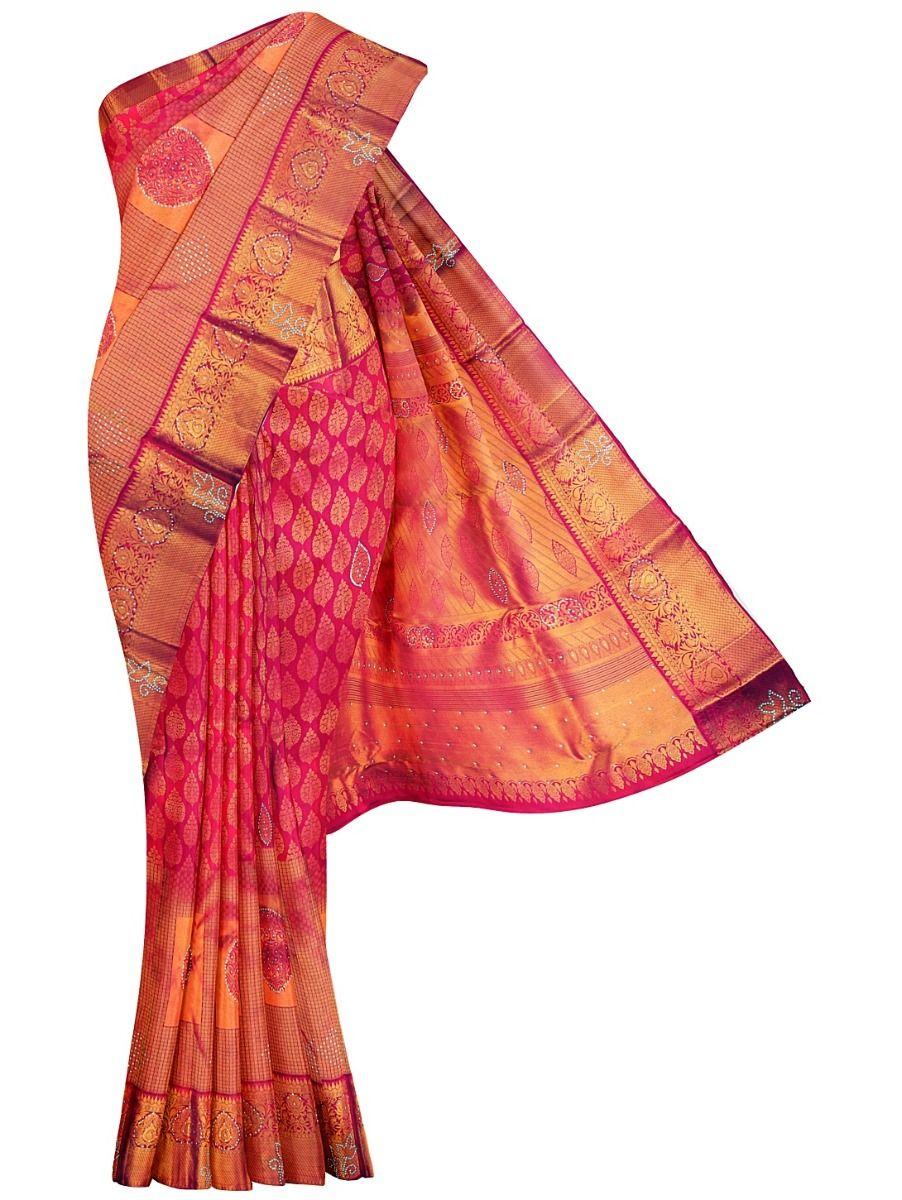 MHC1933627-Vivaha Stonework Wedding Silk Saree
