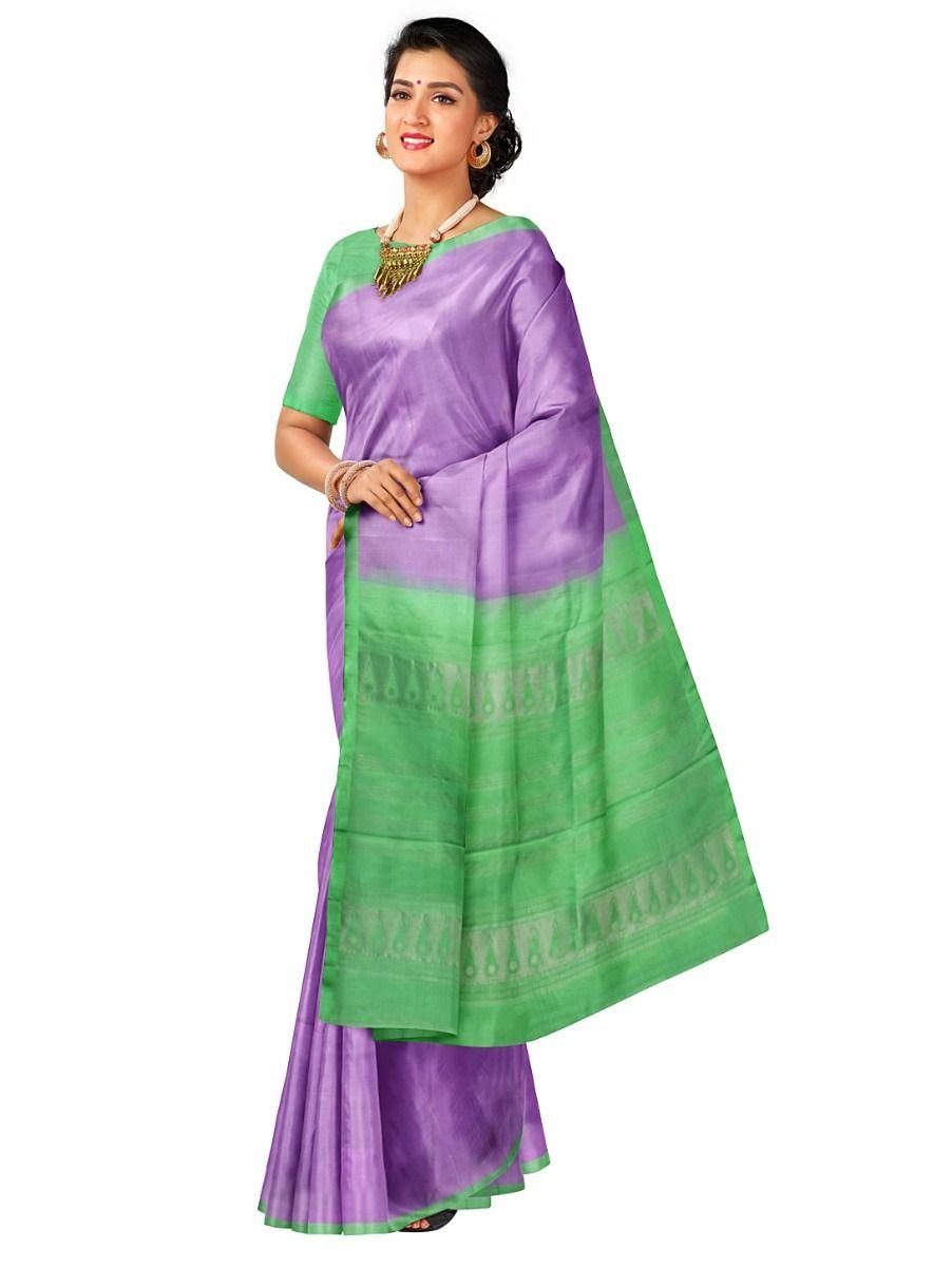 Kanmanie 1 Inch Border Soft Silk Saree