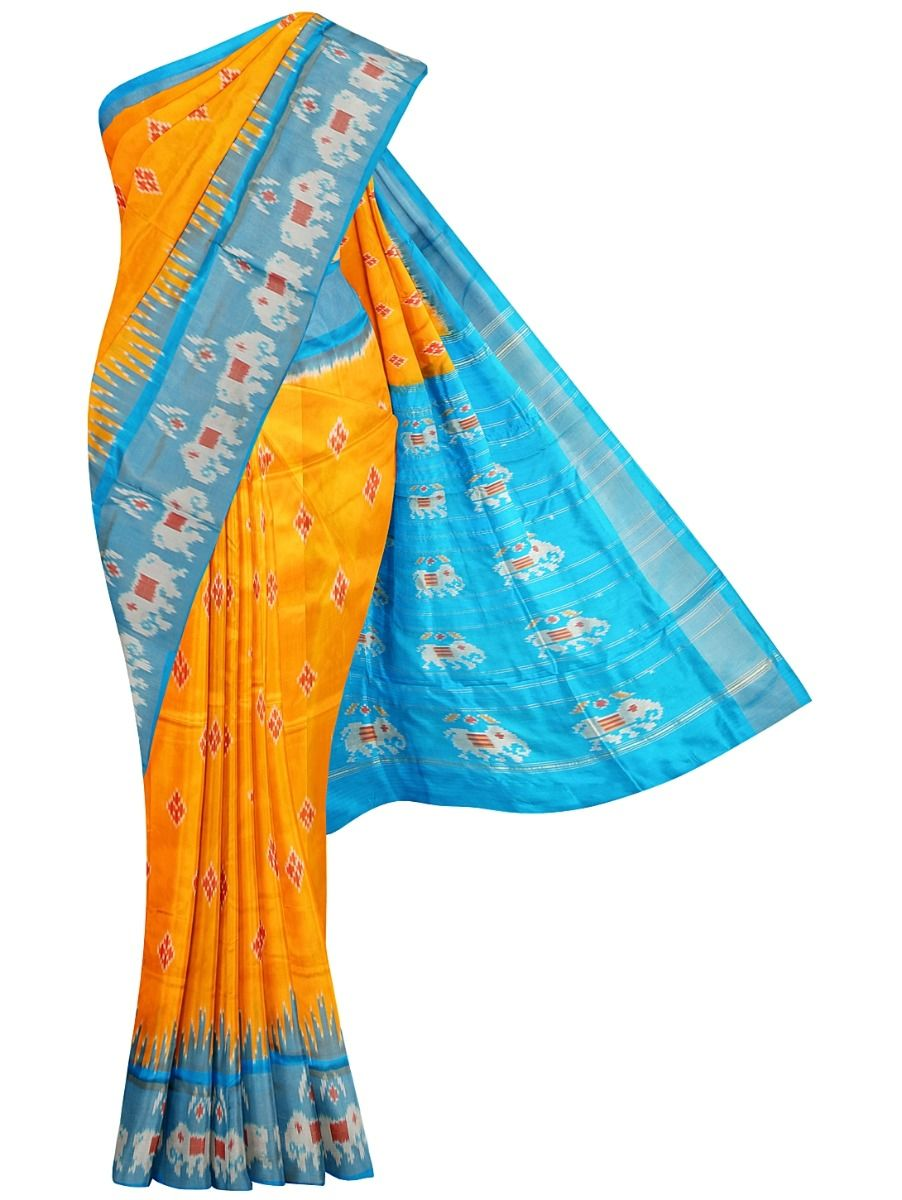 Pochampally Handloom Pure Ikat Silk Saree