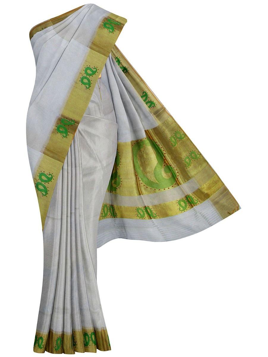 Kerala Traditional Silk Saree - EKM