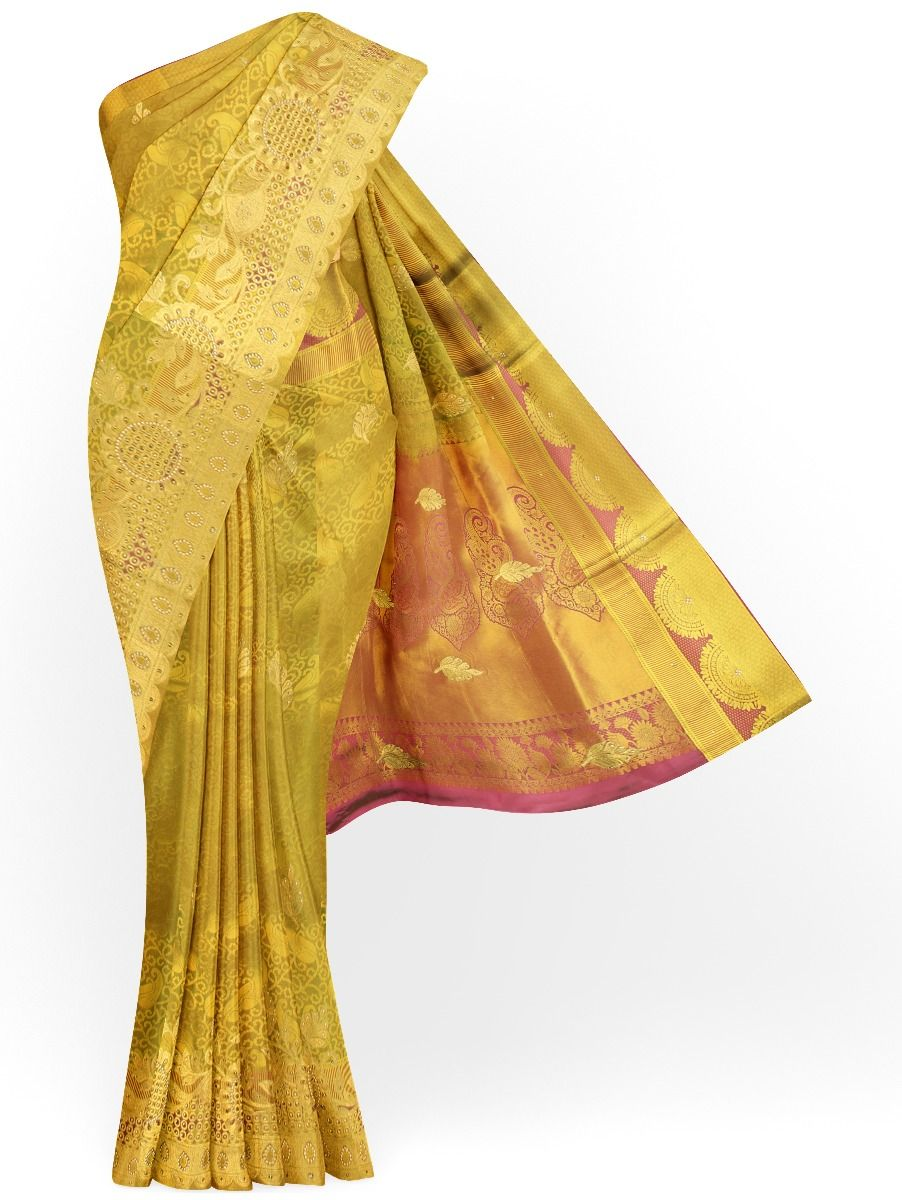 MAB1460901 - Traditional Stonework Silk Saree
