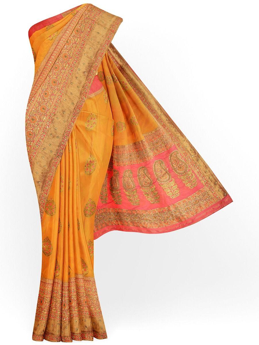 MDD2999366-Banarasi Silk Stone work Saree