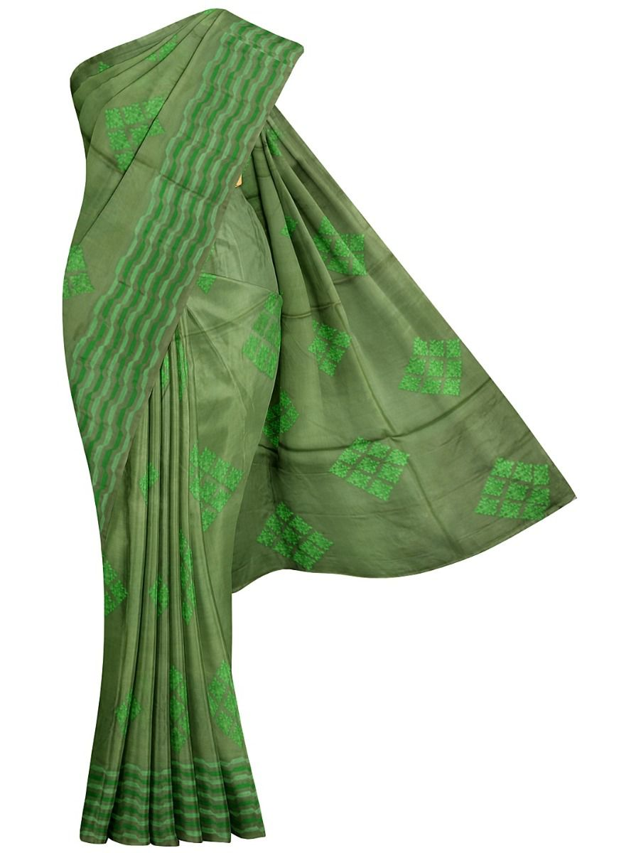 MFB6637623-Kyathi Tussar Silk Ration Embroidery Saree