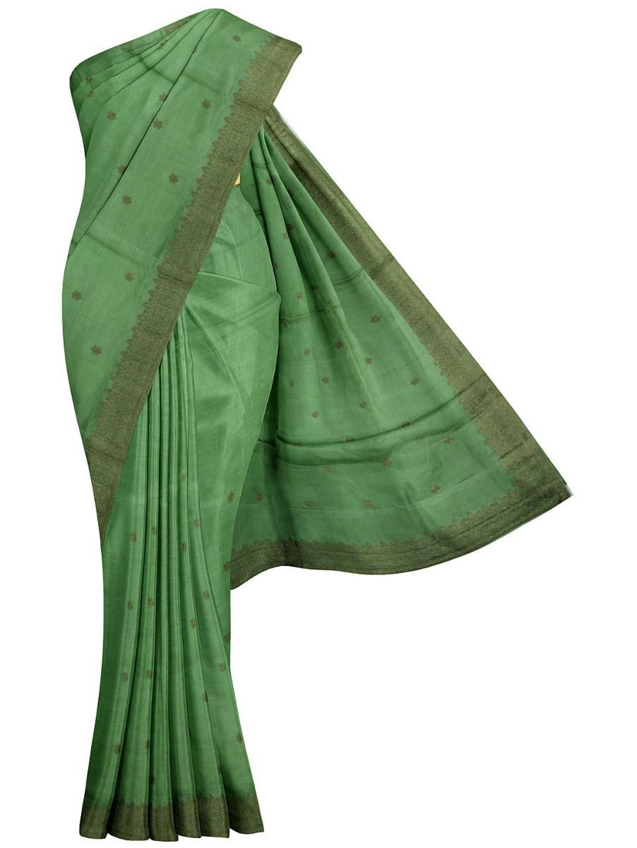 MFB6637638-Kyathi Tussar Silk Ration Embroidery Saree