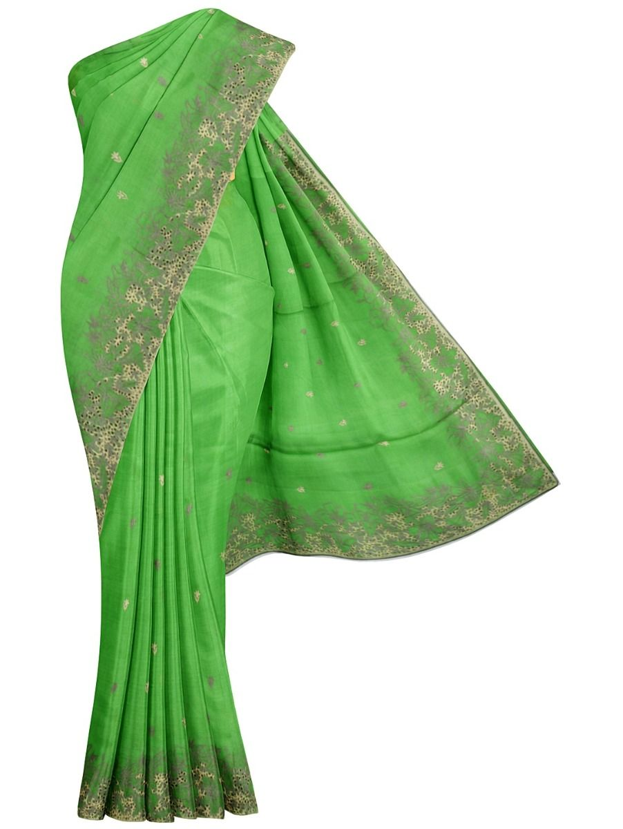 MFB6638357-Kyathi Tussar Silk Ration Embroidery Saree
