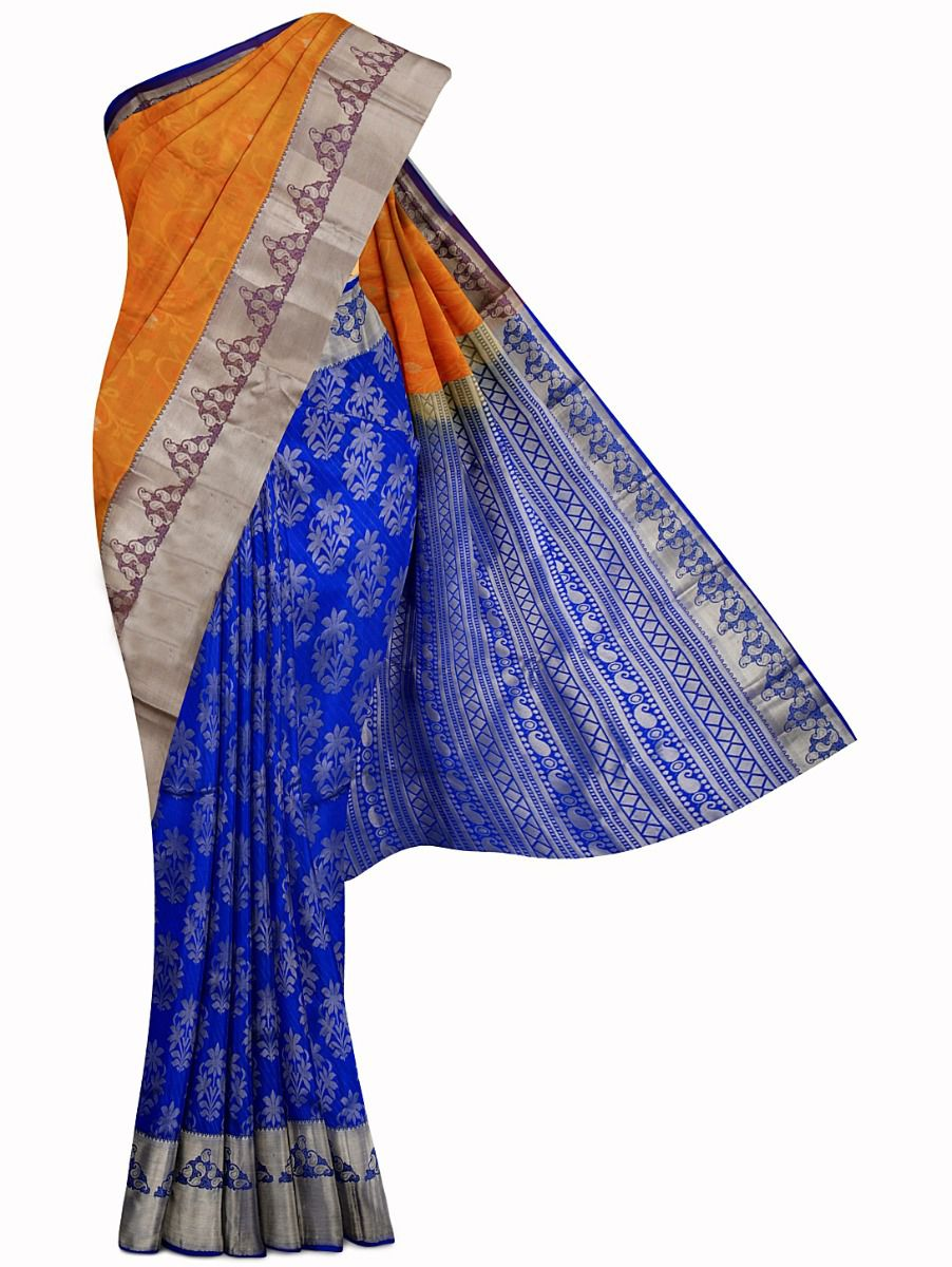 Vipanji Traditional Half and Half Design Silk Saree