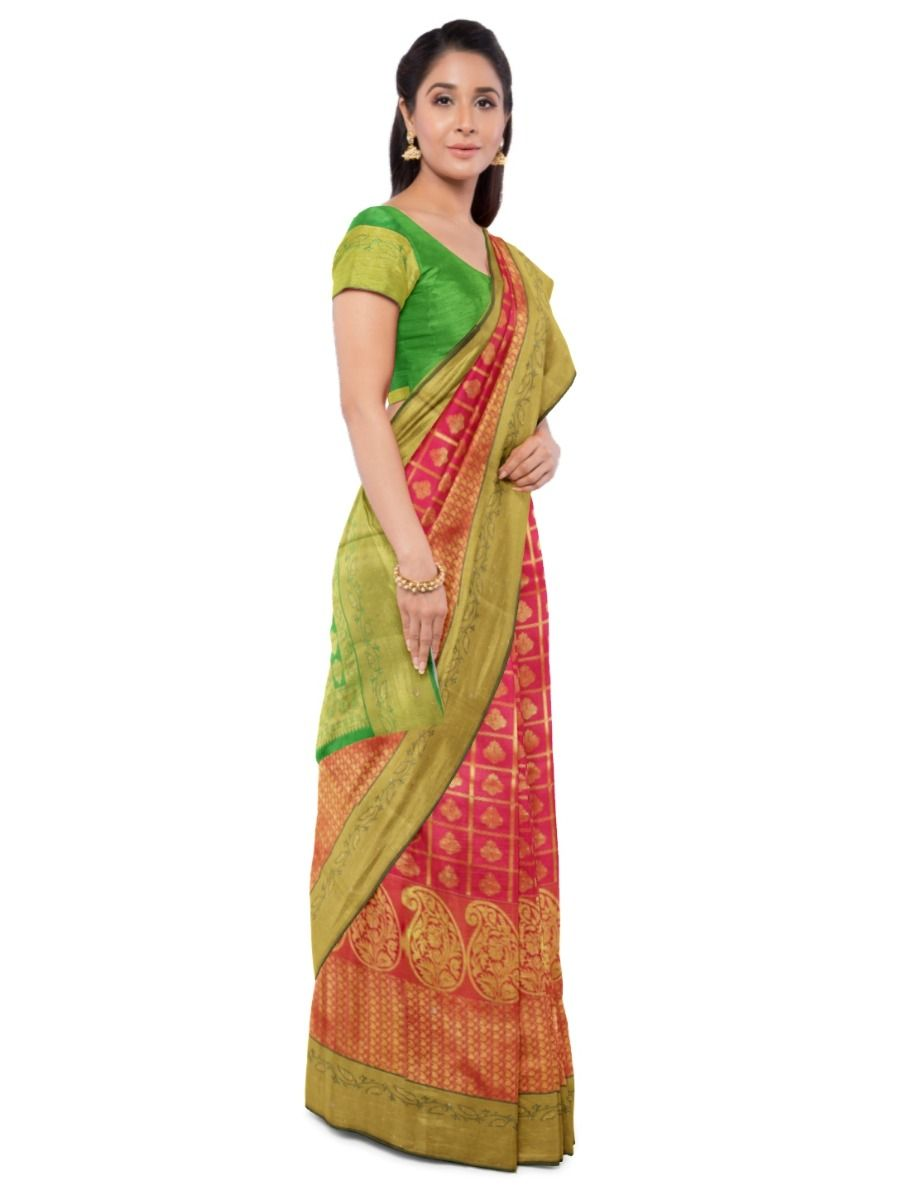 Bairavi Gift Art Silk Work Saree - MDB1406043