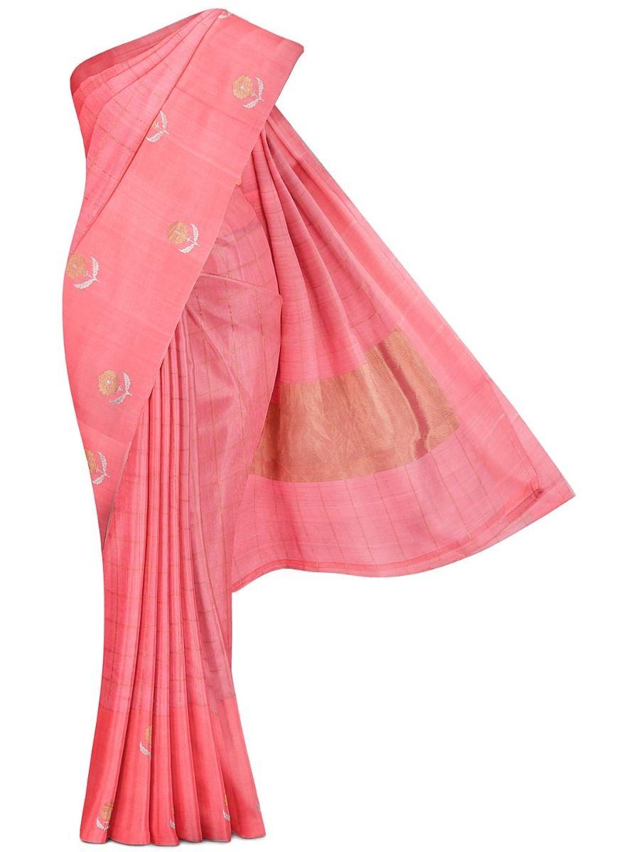 MDD2744684 - Pure Hand-loom Linen Silk Saree