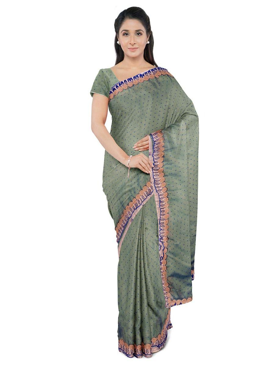 Kathana Exclusive Chiffon Saree With Ready Made Blouse