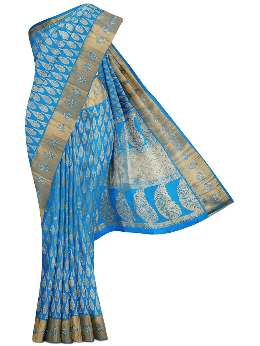 MFA4782867 - Vivaha Wedding Stone Work Silk Saree