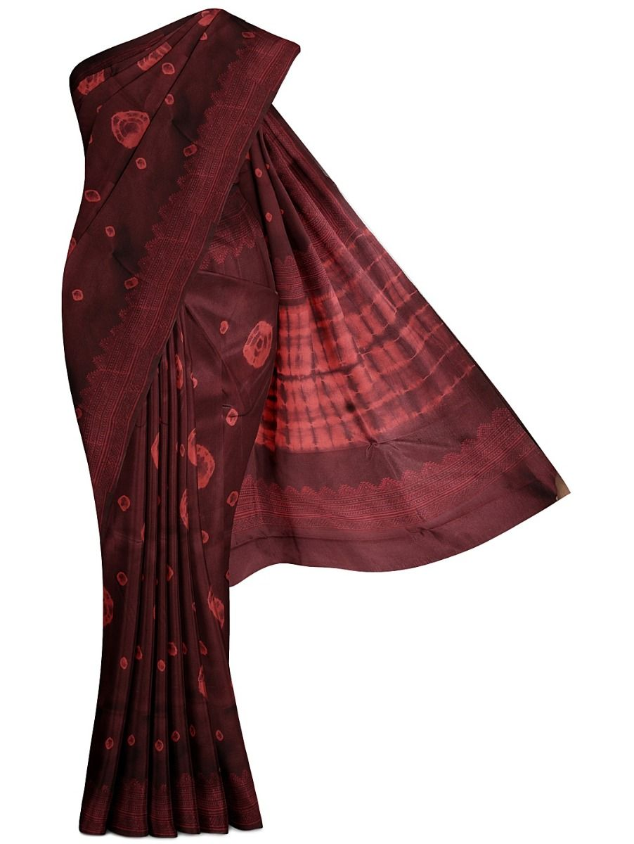 MFA9551256-Dupion Print Silk Saree