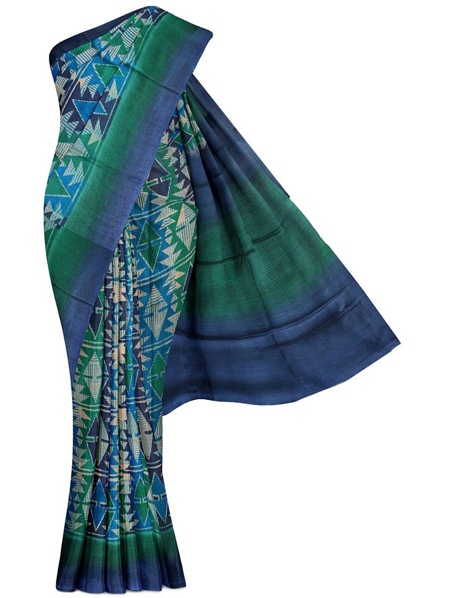 MFB5399823-Fancy Munga Tussar Printed Design Silk Saree