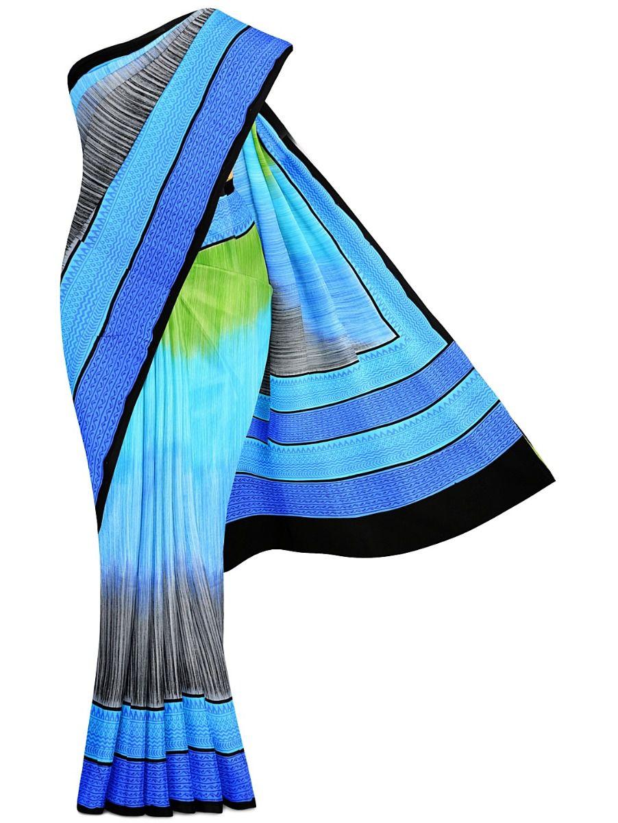 MFB5721264-Fancy Printed Deign Tussar Silk Saree