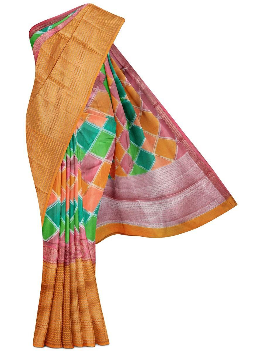 MFB6601253 - Fancy Chinya Dupion Silk Multi Color Saree