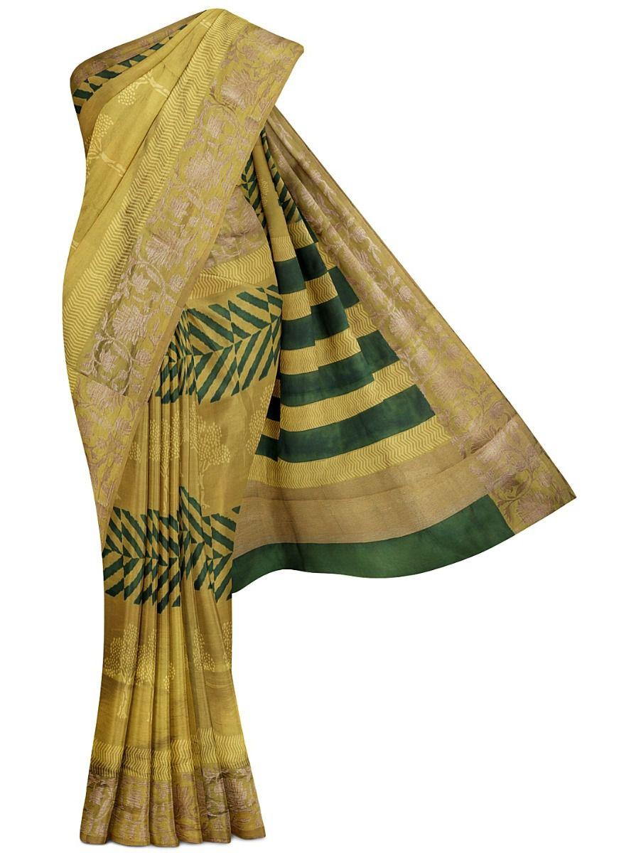 MFB7165078- Dupion Printed Silk Antic Jari Border Saree