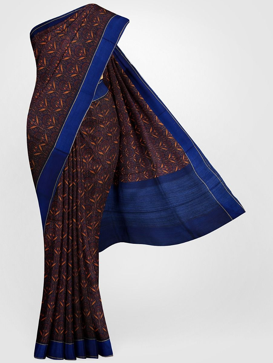 MGB8355699-Tussar Printed Design Silk Saree