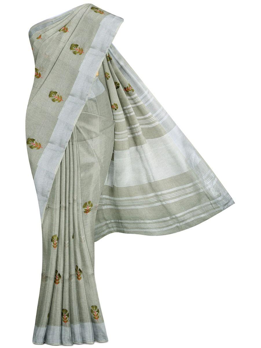 MGC9683855-Linen Cotton Saree