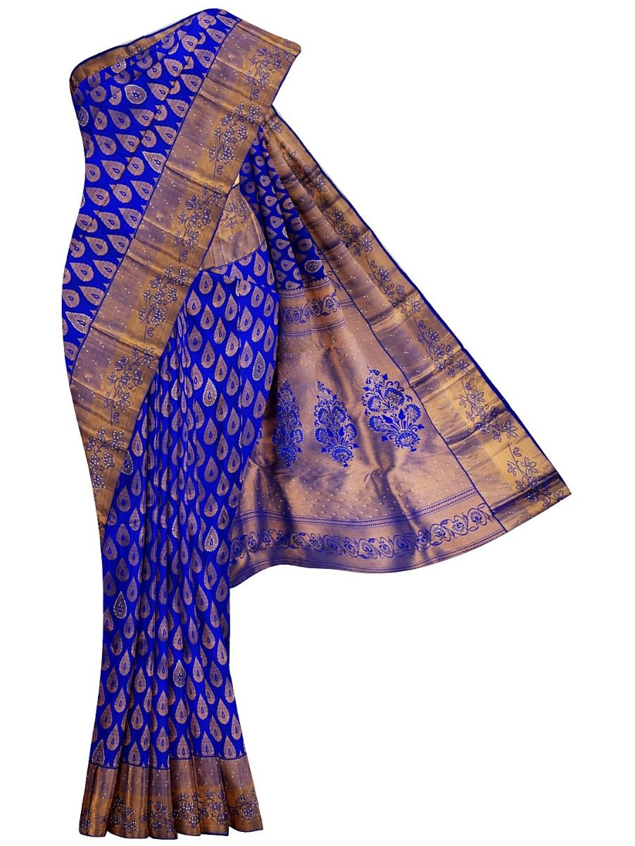 MHA1413585-Vivaha Stone work Wedding Silk Saree