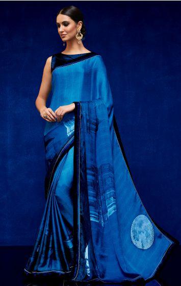 Georgette Party Wear Saree-GPW018