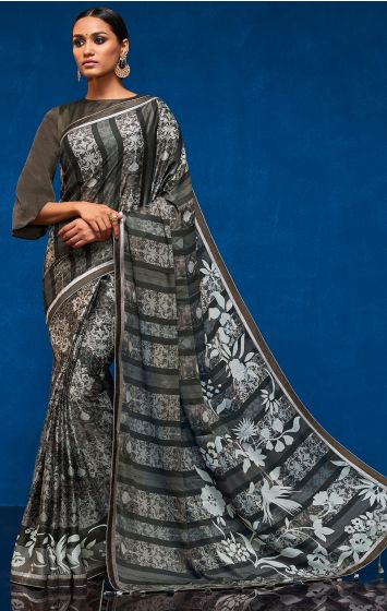 Georgette Party Wear Saree-GPW019