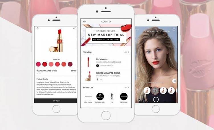 Meitu releases the makeup app with virtual cosmetic counter