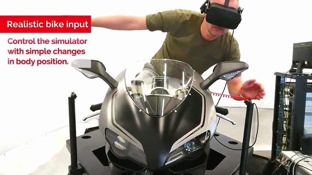 Cruden creates motorcycle simulator with Virtual Reality