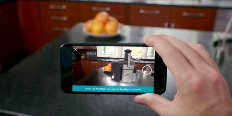 Amazon adds AR shopping feature with ARKit support