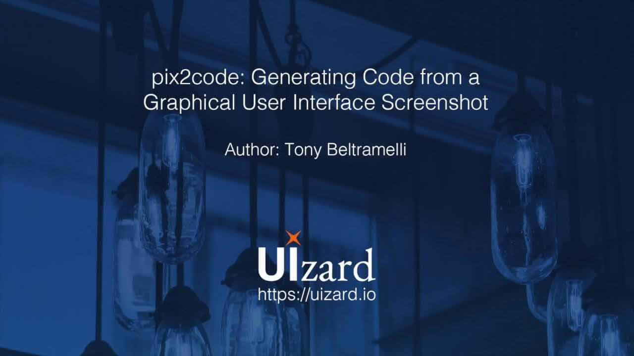UIzard to remove the need for front-end developers using artificial intelligence