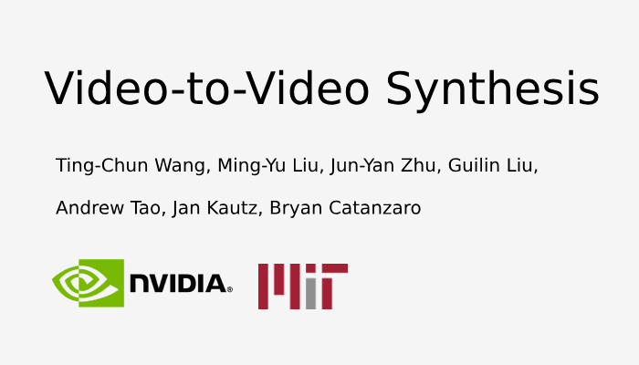 Video To Video Synthesis At 2K Resolution Using A Conditional GAN Framework.