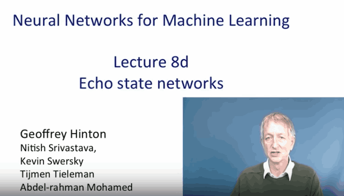 Echo State Networks By Geoffrey Hinton.