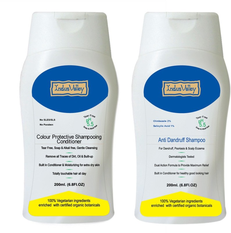 Indus Valley Set of Anti-dandruff Shampoo & Conditioner in Combo Kit(Set of  2)