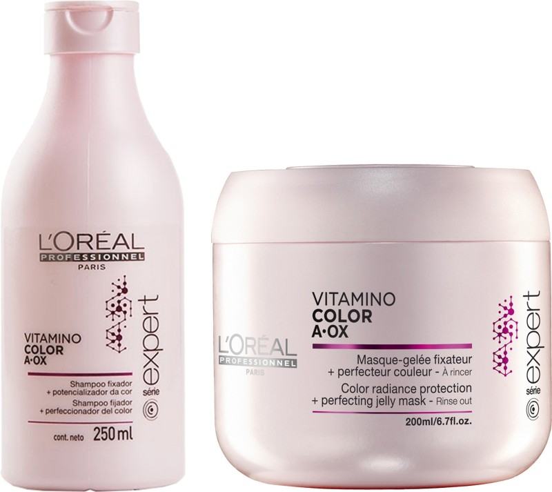 7ace20c5a LOreal Professionnel Vitamino Color Aox Shampoo 250 ml + Mask 200 ml(Set of)