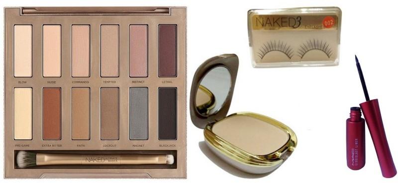77e57d57f3b Urban Decay Ultimate Basics Naked Eyeshadow Palette,Compact,Eyelashes,Mac  Eyeliner(Set of)