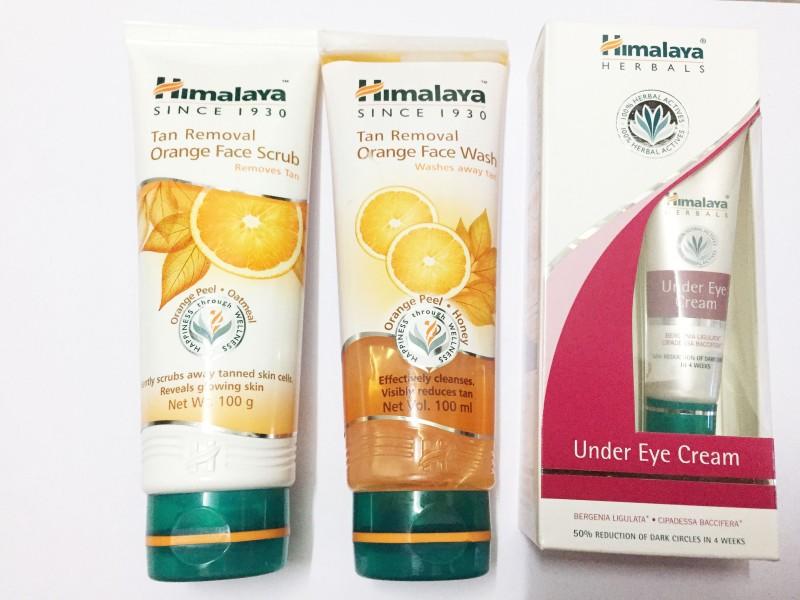 Himalaya Tan Removal Orange Face Scrub Tan Removal Orange Face Wash Under Eye Cream Set Of 3 Fabbon