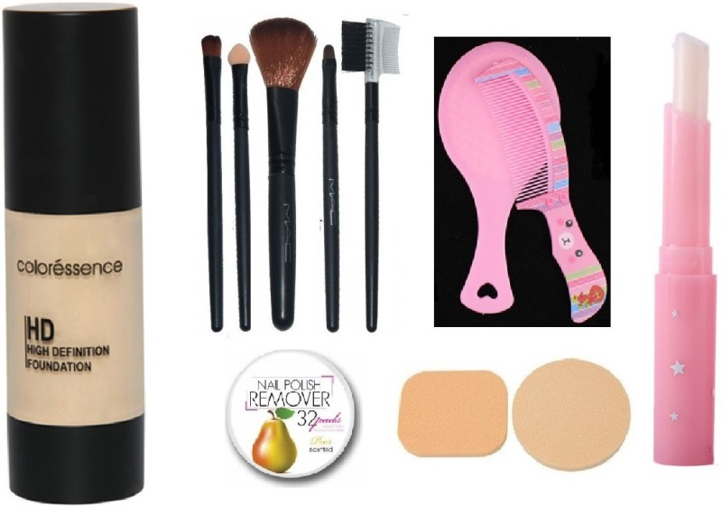 Aksh Makeup Combo Of Coloressence High Definition Foundation Hdf 1