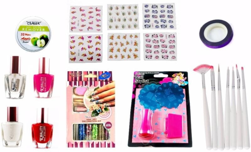 Iris 7 Ready to Use Prefect Nail Decorative Gift Set( Nail Paint ...