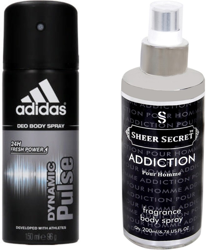 ADIDAS Victory League, Pure Game and champions League Deodorant Body Spray Pack of 3 (150ML each) Combo Deodorant Spray For Men