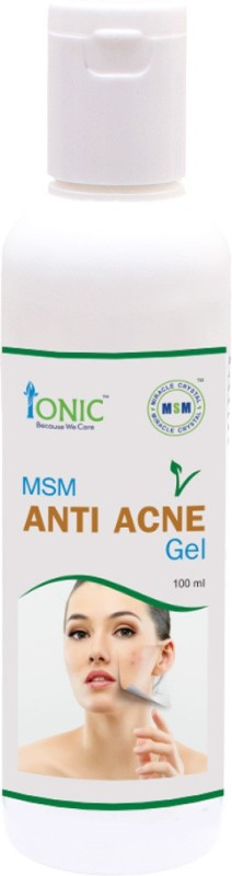 ionic Anti Acne Face Gel for Pimple free Smooth & Soft Skin (MSM - Organic  Sulfur a Natural Beauty Mineral)(100 ml)