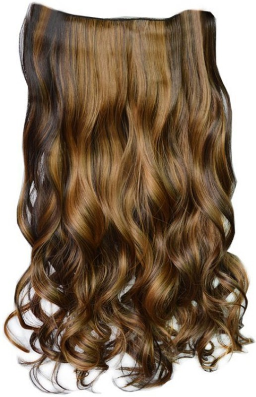 Majik Make Your Hair Long Dark Brown Highlighting Hair Extension