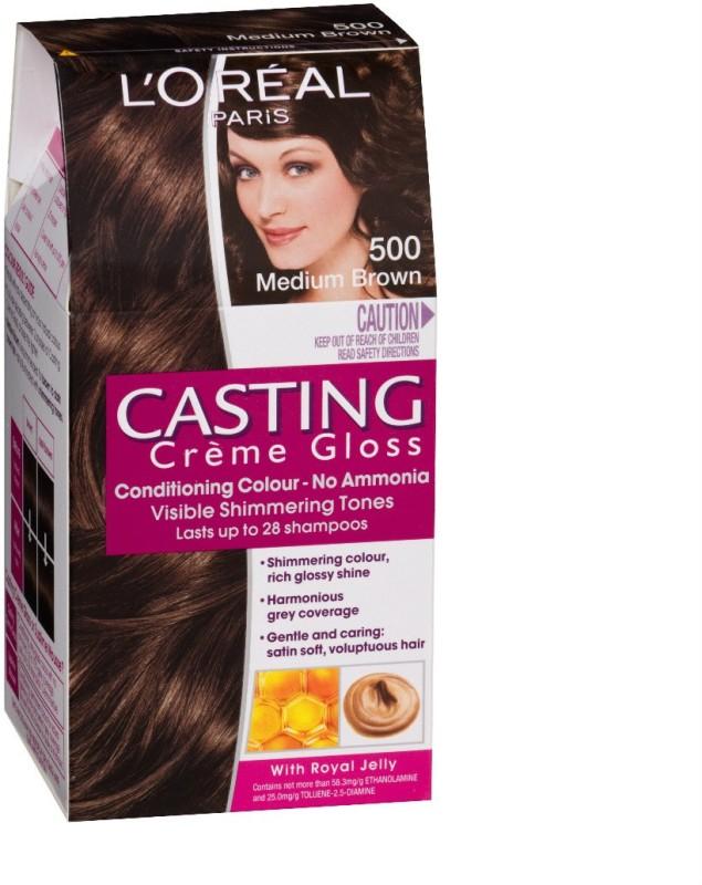 Loreal Paris Casting Cream Gloss Hair Colormedium Brown 500 Fabbon