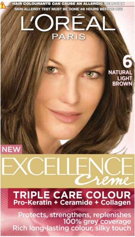 Loreal Paris Excellence Creme Hair Color Natural Light Brown 6 Fabbon