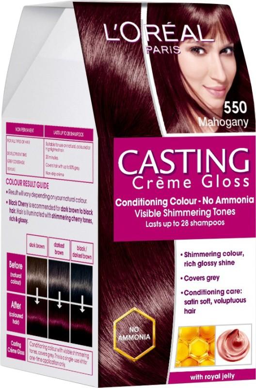 LOreal Paris Casting Creme Gloss Hair Color(Mahogany - 550)