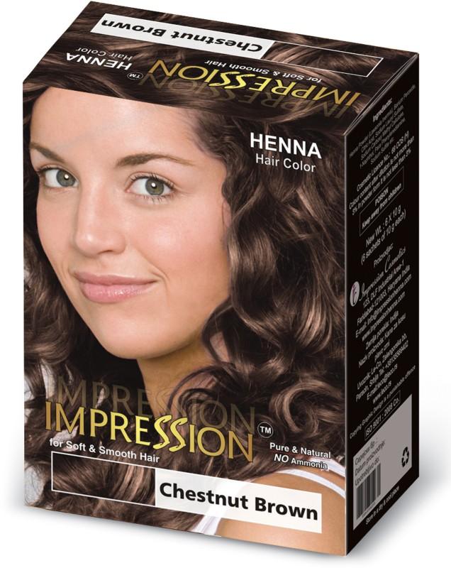Impression Henna Based Hair Color Chestnut Brown Fabbon